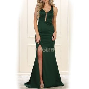 Fitted formal dress. Prom evening bridesmaid gown
